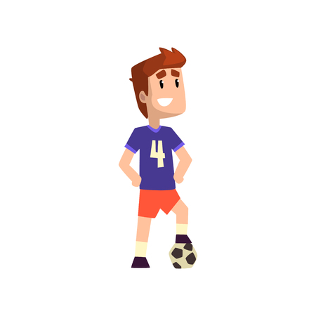 Football soccer player vector Illustration isolated on a white background. Ilustracja