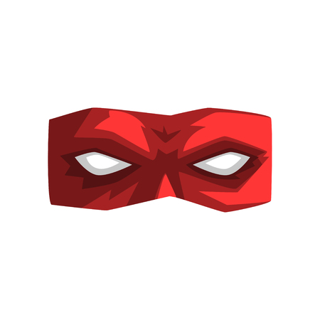 Red superhero mask vector Illustration isolated on a white background.