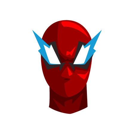 Hero mask vector Illustration on a white background