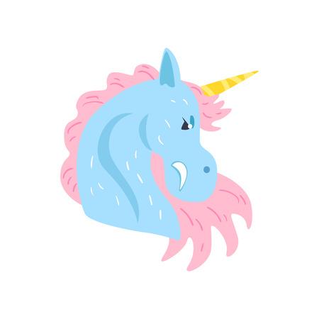 Cute unicorn character cartoon vector Illustration on a white background Çizim