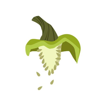 Pepper organic garbage, utilize waste concept vector illustration on a white background. Illustration