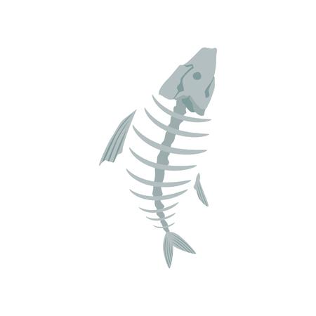 Fish skeleton, recycling garbage concept, utilize waste vector Illustration on a white background Illustration