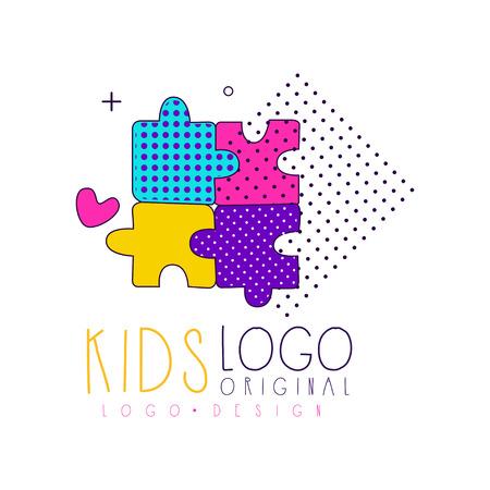 Kids club icon original design, bright badge for kids Stockfoto - 99993055