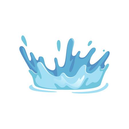Splash of water vector Illustration on a white background.  イラスト・ベクター素材
