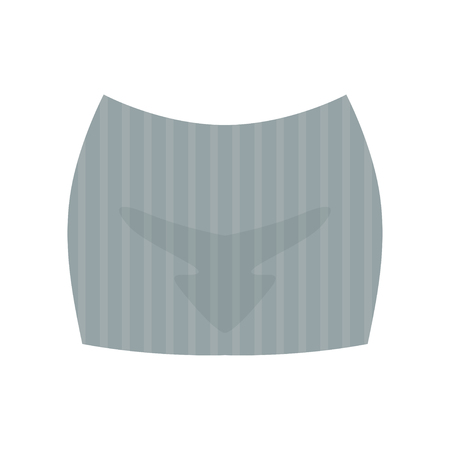 Female grey short skirt, fashion women clothes vector Illustration isolated on a white background.