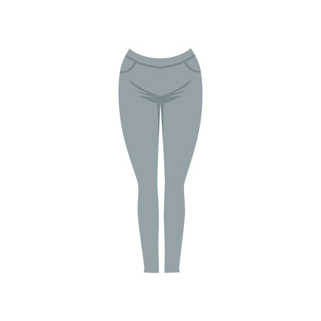 Grey female leggins, fashion women clothes vector Illustration isolated on a white background.  イラスト・ベクター素材