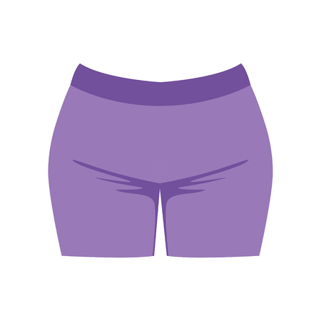 Female shorts, fashion women clothes vector Illustration isolated on a white background.