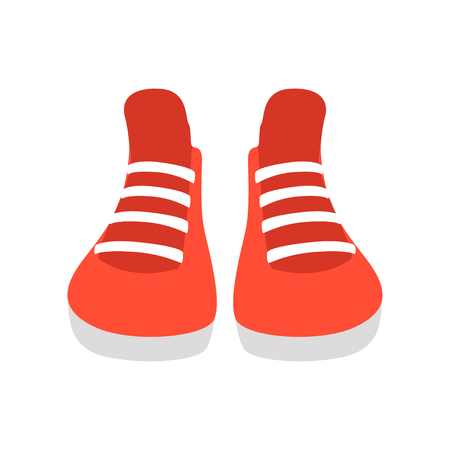 Red sneakers vector Illustration isolated on a white background.