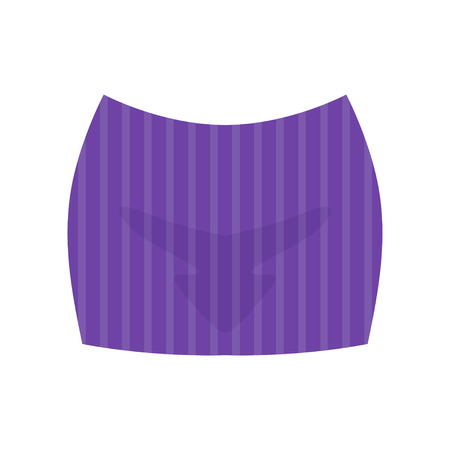 Striped short skirt, fashion women clothes vector Illustration isolated on a white background.