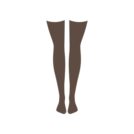Black stockings vector Illustration isolated on a white background.