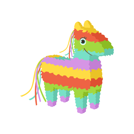 Mexican pinata, traditional cultural symbol of Mexico vector Illustration on a white background