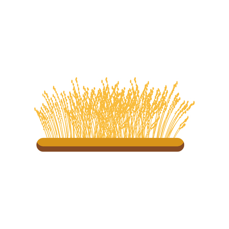 Field of wheat vector Illustration Çizim