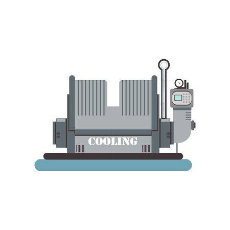 Cooling, brewing production process vector Illustration Illusztráció