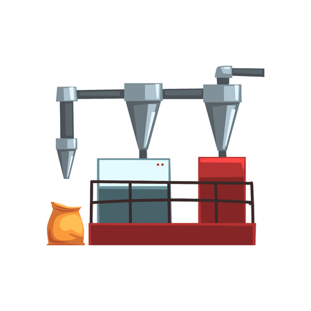 Flour grinding, equipment for bread production vector Illustration on a white background Illustration