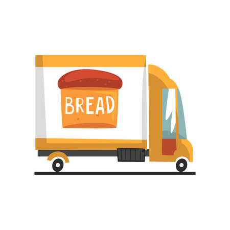 Bakery delivery truck vector Illustration on a white background