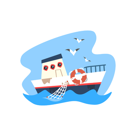 Ship vector Illustration on a white background Illustration