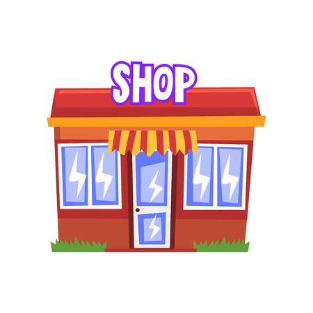 Shop building vector Illustration on a white background 向量圖像