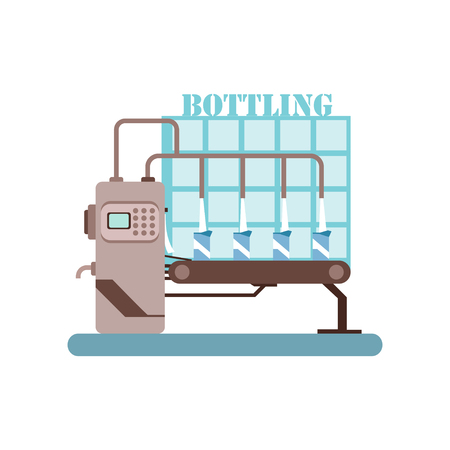 Bottling of milk equipment Illustration