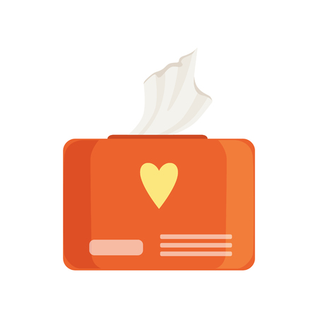 Orange pack of wet baby wipes vector Illustration isolated on a white background. Illustration