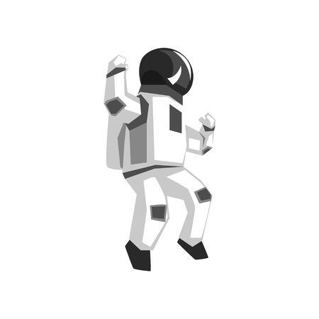 Astronaut in a space suit vector Illustration isolated on a white background.
