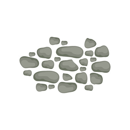 Paving stones, landscape design element, pathway cover, top view vector Illustration on a white background.