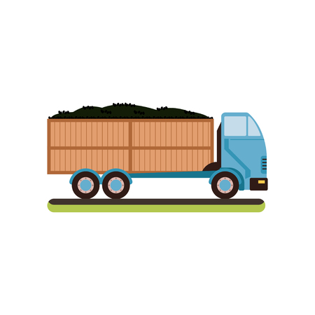 Truck with ripe olives vector Illustration on a white background Illustration