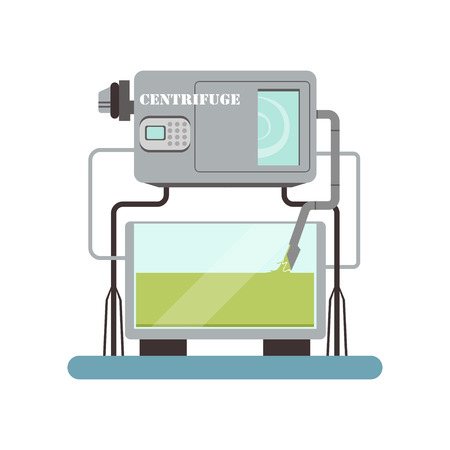 Centrifuge, equipment for olive oil production vector Illustration on a white background