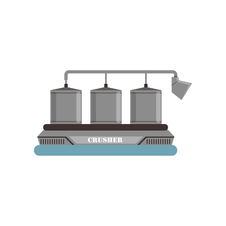 Crusher, equipment for olive oil production vector Illustration on a white background Ilustração
