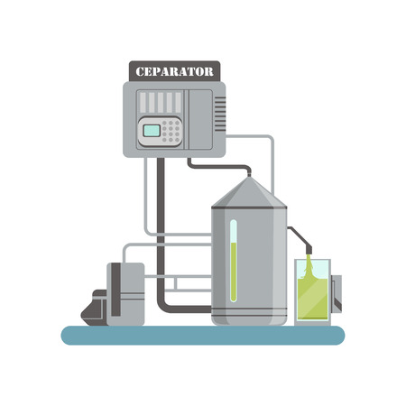 Separator, equipment for olive oil production vector Illustration on a white background Ilustração