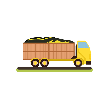 Delivery truck vector Illustration on a white background