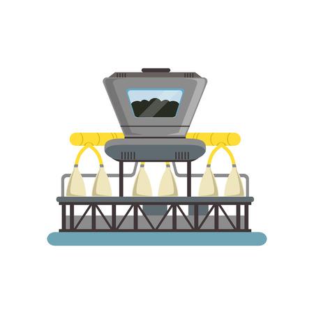 Sunflower oil production process vector Illustration on a white background Archivio Fotografico - 101371999