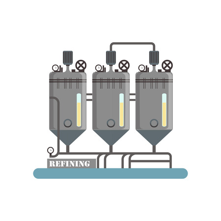 Refining, equipment for sunflower oil production vector Illustration on a white background Archivio Fotografico - 101372001