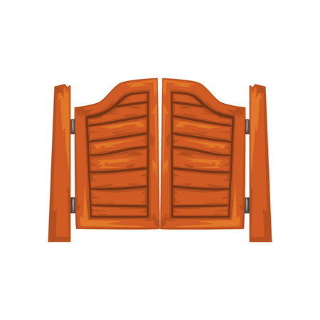 Old western swinging saloon doors vector Illustration on a white background