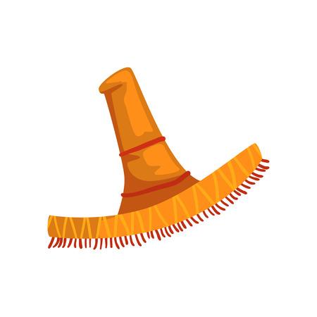 Vector de sombrero sombrero ilustración sobre un fondo blanco Ilustración de vector