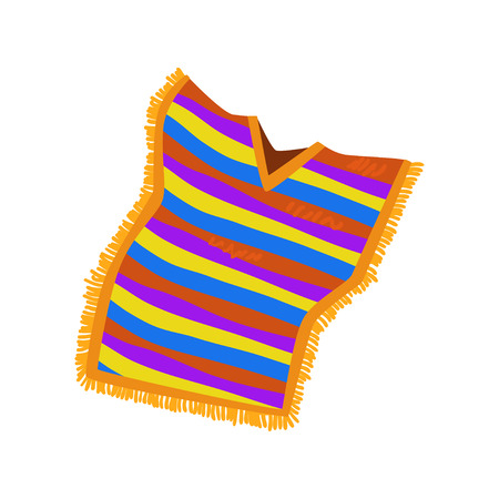 Mexican poncho vector Illustration on a white background Illusztráció