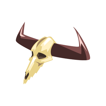 Buffalo skull vector Illustration on a white background 版權商用圖片 - 101440305