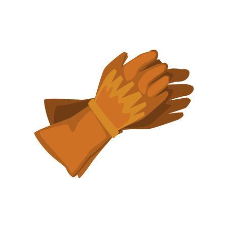 Pair of cowboy leather gloves vector Illustration on a white background
