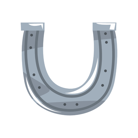 Silver horseshoe vector Illustration on a white background 向量圖像