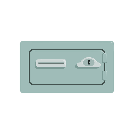 Safe metal box, safety business box cash secure protection concept vector Illustration 向量圖像