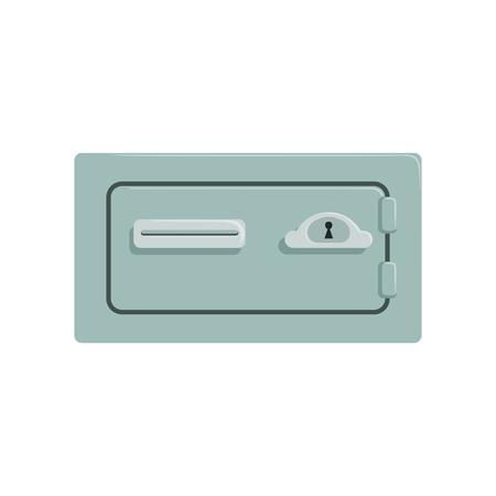 Safe metal box, safety business box cash secure protection concept vector Illustration Ilustração