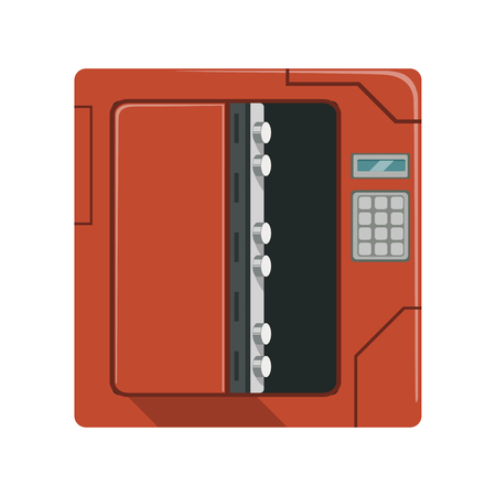 Safe metal opened box, safety box, cash secure protection concept vector Illustration