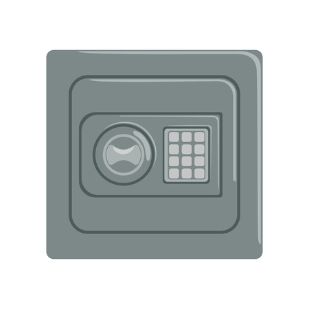 Safe box with a keypad buttons panel, safety business box cash secure protection concept vector Illustration 向量圖像