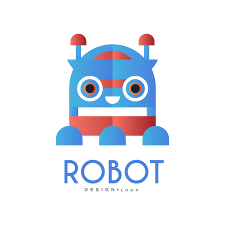 Robot  design element for company identity, technology or computer related services vector Illustration on a white background