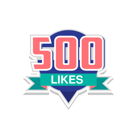 Thank you 500 likes, template for social media networks, thanks for net friends likes vector Illustration on a white background Illustration