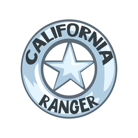 California ranger badge, American justice emblem vector Illustration on a white background