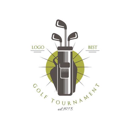 Golf tournament best est 1978, elegant vintage sport label for golf championship, sport club, business card vector Illustration on a white background