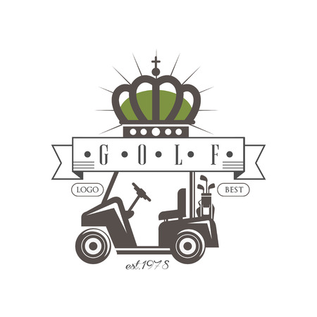 Golf best est 1978, retro label for golf championship, tournament, club, business card vector Illustration on a white background