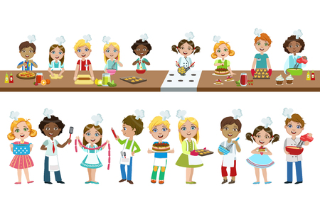 Kids On Cooking Lesson
