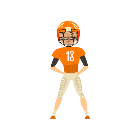 American football player wearing uniform vector Illustration on a white background