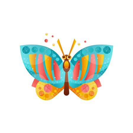 Beautiful butterfly insect vector Illustration on a white background Illustration